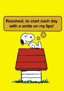 Vintage Snoopy magazine cover poster - Start each day with a smile on my lips